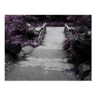 Black & White Landscape Bridge Photo Postcard