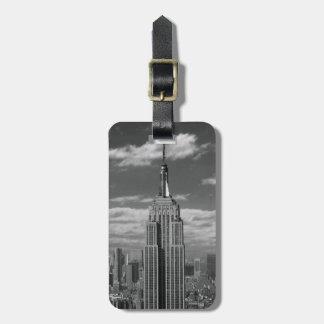 Black & White landscape of New York City skyline Bag Tag