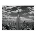 Black & White landscape of New York City skyline Postcard