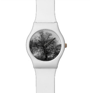 Black & White Landscape Photo Wristwatch