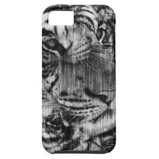 Black White Layered Tiger Vintage iPhone 5 Case