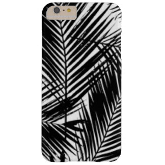 Black & White Leaves Pattern Print Design Barely There iPhone 6 Plus Case
