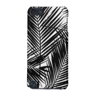Black & White Leaves Pattern Print Design iPod Touch (5th Generation) Covers