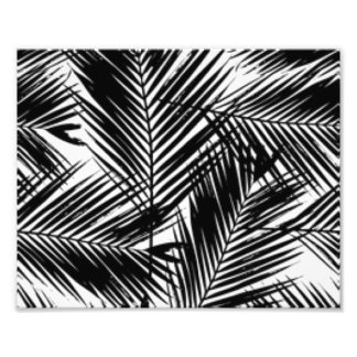 Black & White Leaves Pattern Print Design Photo Print