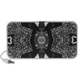 Black&White Leopard Abstract Laptop Speakers