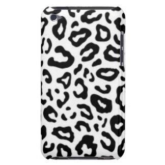 Black white Leopard Pattern Print Design iPod Case-Mate Cases