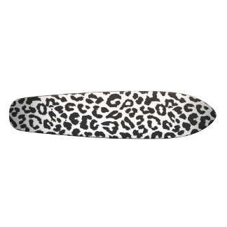 Black & White Leopard Print Animal Skin Patterns 20 Cm Skateboard Deck