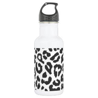 Black & White Leopard Print Animal Skin Patterns 532 Ml Water Bottle