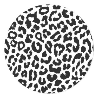 Black & White Leopard Print Animal Skin Patterns Card