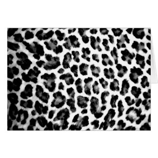 Black & White Leopard Print Card