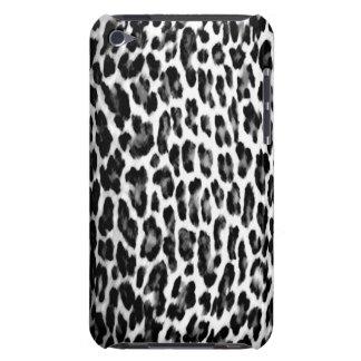 Black & White Leopard Print iPod Case-Mate Cases