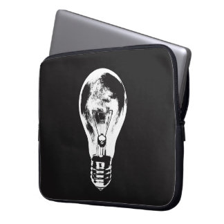 Black & White Light Bulb - Notebook Sleeve