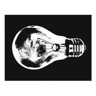 Black & White Light Bulb - Postcard