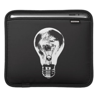 Black & White Light Bulb - Sleeve iPad Sleeve