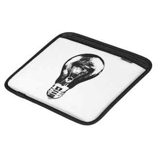 Black & White Light Bulb - Tablet Sleeve iPad Sleeve