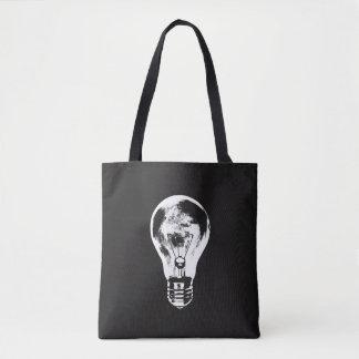 Black & White Light Bulb - Tote Bag