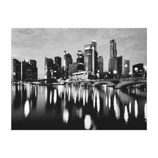 Black white lighting city night canvas prints