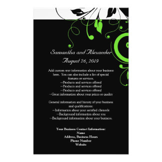 Black/White/Lime Green Bold Swirl Program Flyer