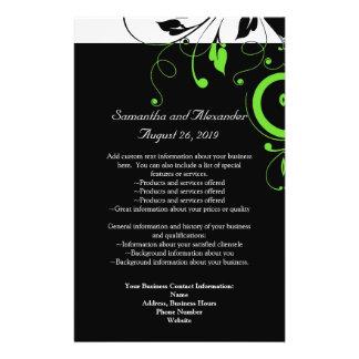 Black/White/Lime Green Bold Swirl Program Flyer