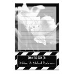Black & White Lined Iris Personalised Stationery