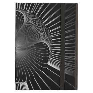 Black white lines abstract cover for iPad air