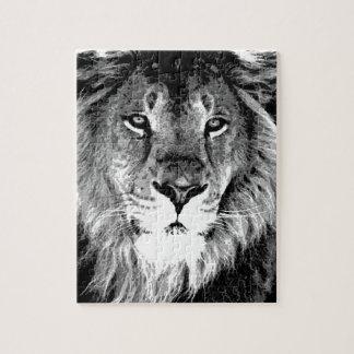 Black & White Lion Jigsaw Puzzle