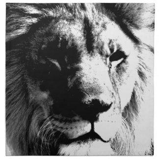 Black & White Lion Napkin