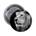Black & White Lion Pin