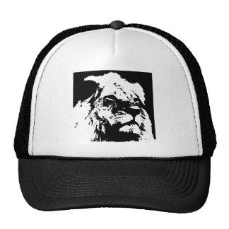Black & white lion pop art cap