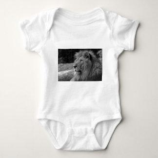 Black & White Lion - Wild Animal Baby Bodysuit