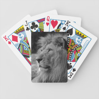 Black & White Lion - Wild Animal Poker Deck