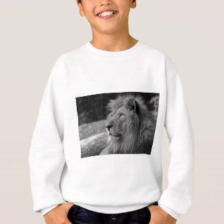 Black & White Lion - Wild Animal Sweatshirt