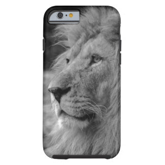 Black & White Lion - Wild Animal Tough iPhone 6 Case