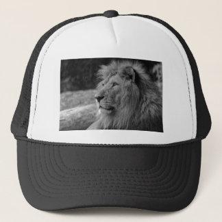 Black & White Lion - Wild Animal Trucker Hat