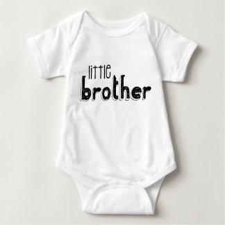 Black & White Little Brother Typography Baby Bodysuit