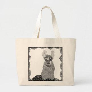 Black White Llama Art Bag