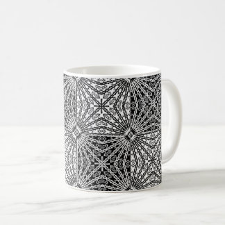 Black & White Looking Glass Mandala 2 Coffee Mug