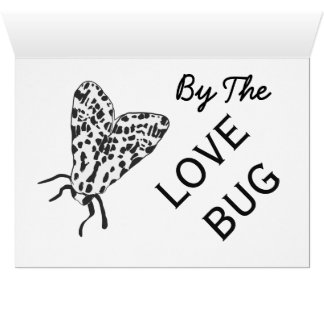 Black & White Love Bug Card