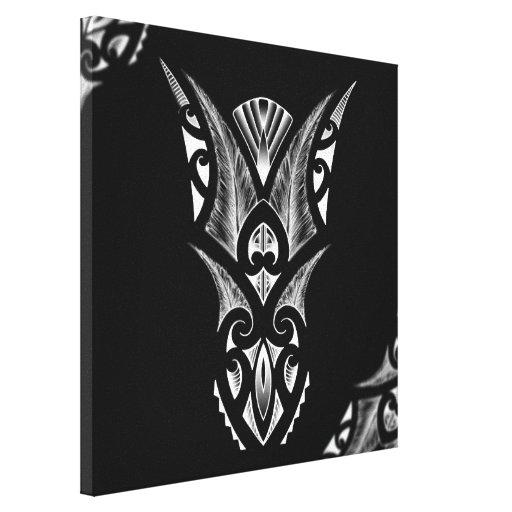 Maori Feather Tattoo: Black/white Maori Tattoo Design With Feathers Gallery