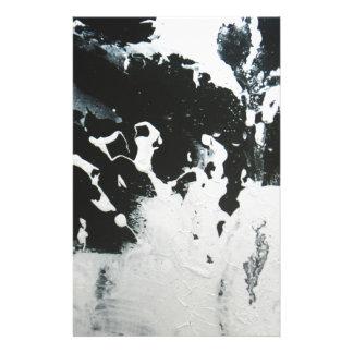 Black & White Marble Abstract Illustration Design Custom Stationery