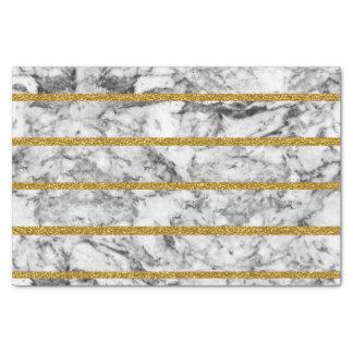 Black white marble gold glitter effect stripes tissue paper