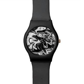 Black White Marble Ladies Black May Watch. Watch