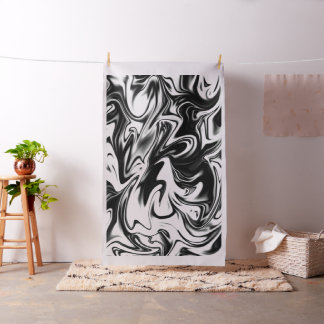 Black White Marble Licorice Candy, Cotton Material Fabric