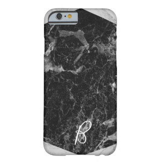Black & White Marble Modern Trendy Girly Glam Barely There iPhone 6 Case
