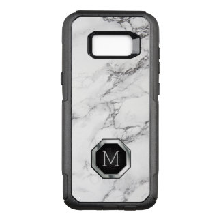 Black & White Marble Stone OtterBox Commuter Samsung Galaxy S8+ Case