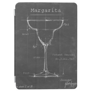 Black & White Margarita Glass Blueprint iPad Air Cover