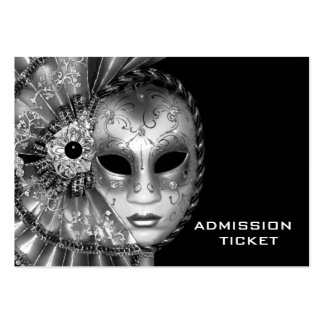 Black White Masquerade Party Admission Tickets Business Cards