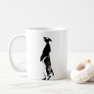 Black & White Meerkat - right - Coffee Mug