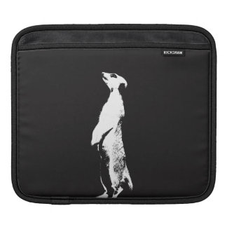Black & White Meerkat - right - Tablet sleeve