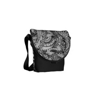 Black & White Messenger bag
